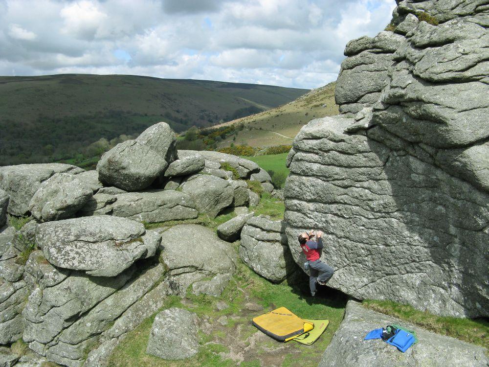 Climbing dartmoor